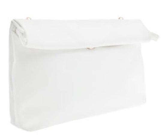 bolso mano blanco