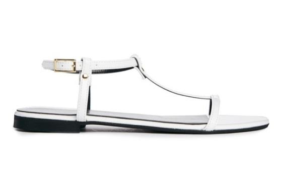 white flat sandals_sandalias planas blancas