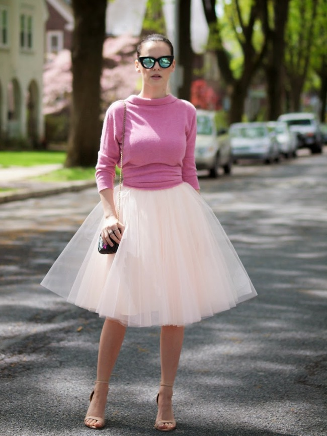 falda tutu en rosa