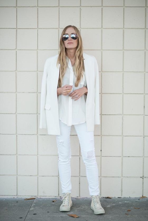 white jean look