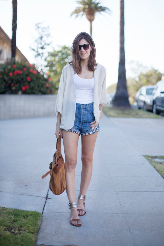 denim short look