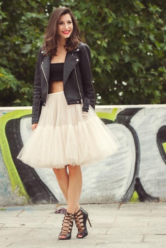 look falda tutú