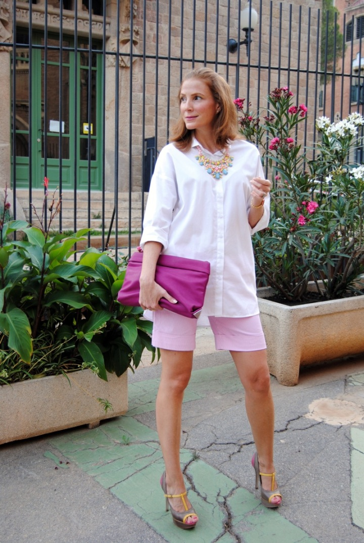 pink summer look
