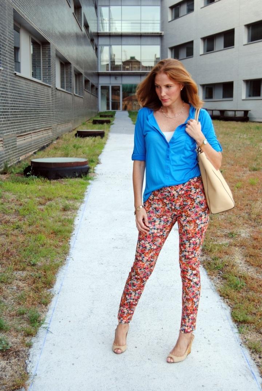 Floral pants look