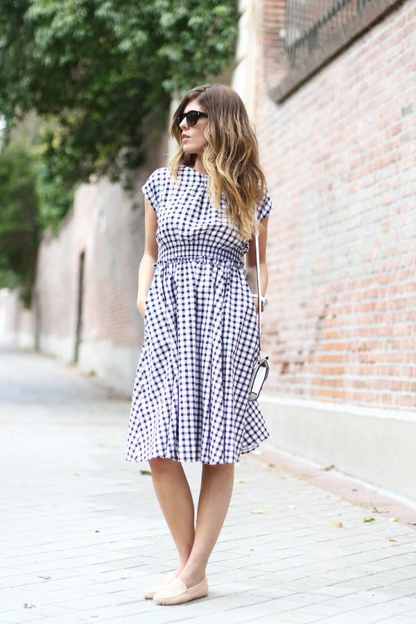 vichy print dress