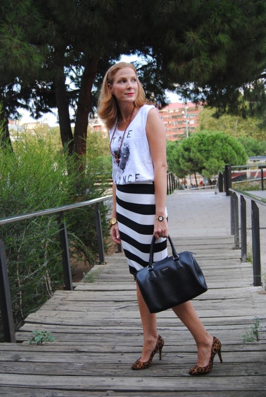Fashion Pills striped skirt