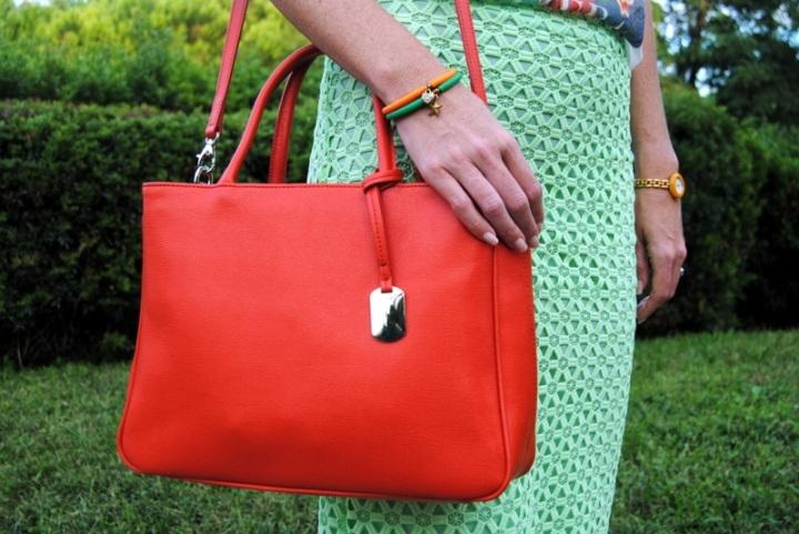 Orange Furla bag