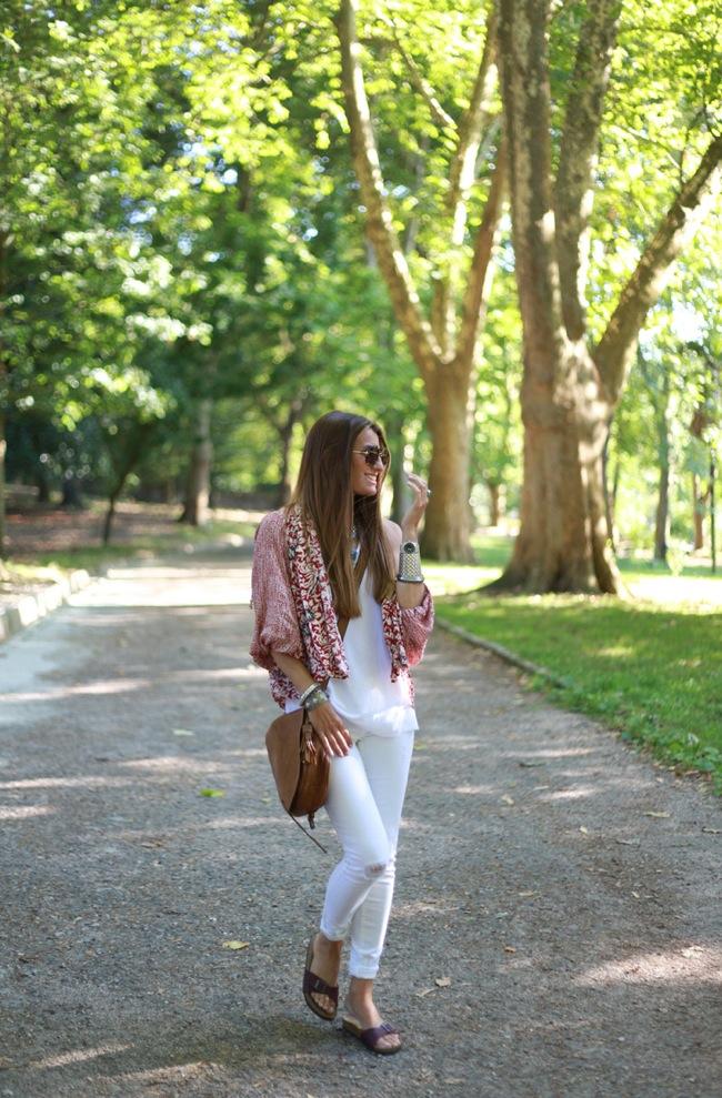 White look + kimono