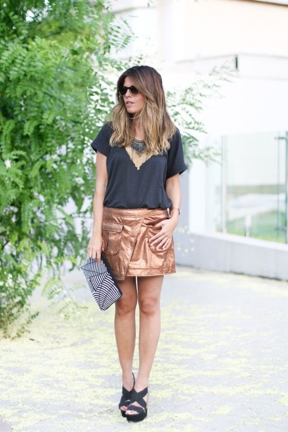 Metal skirt look