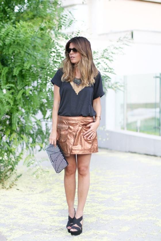 Metal skirt look