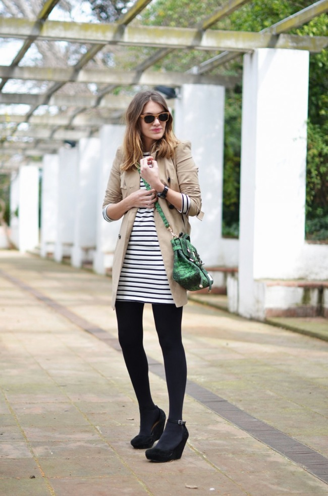 Stripes and trend coat
