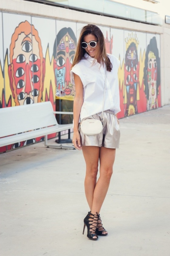 Zara metallic short