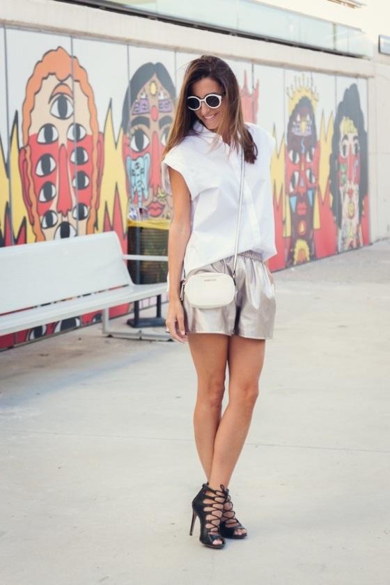 Zara metallic short