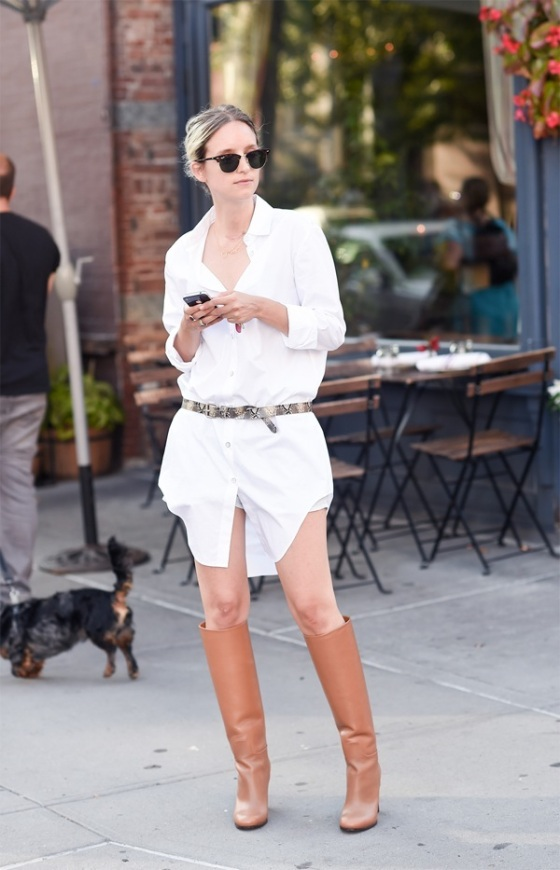 White Shirt dress look