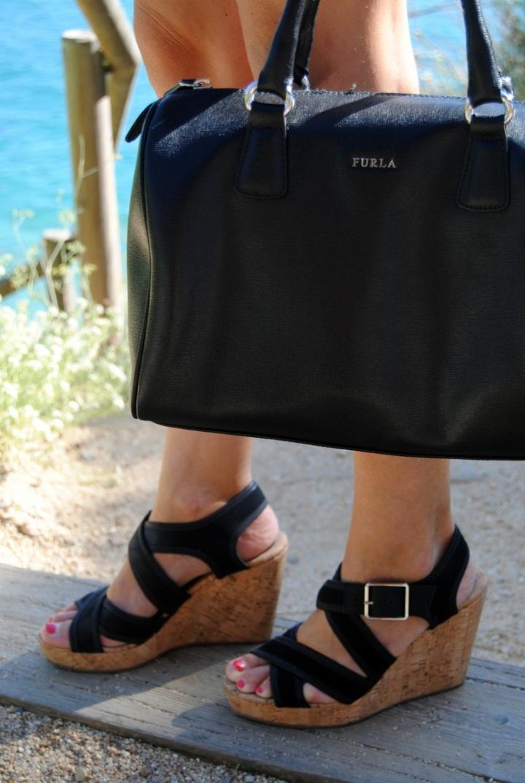 Bolso Furla + cuñas Bimba & Lola