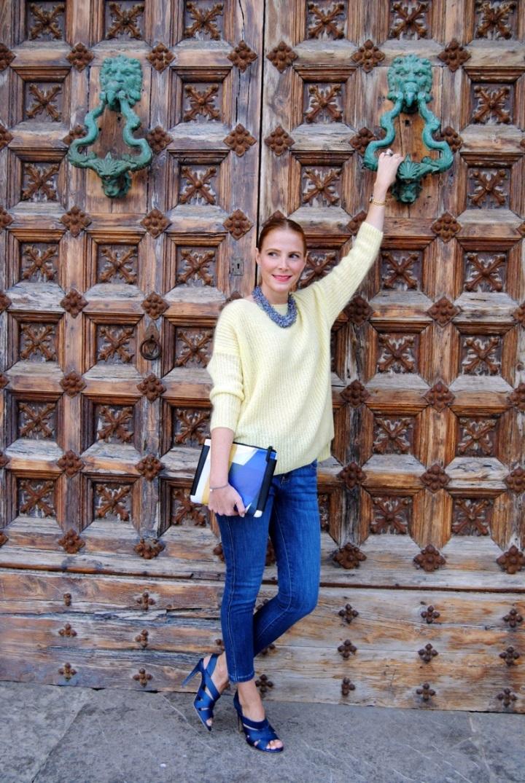 Yellow sweater_jean