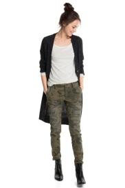 Pantalón chino elásico de camuflaje