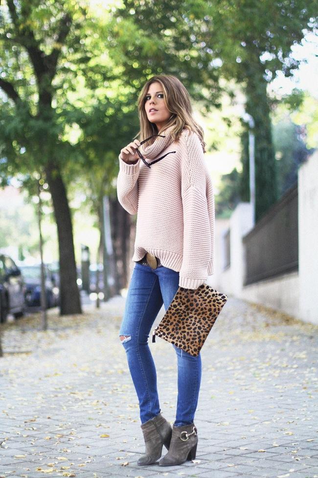 Suéter pastel y jean