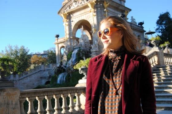 Zara sunglasses and Burgundy Blazer