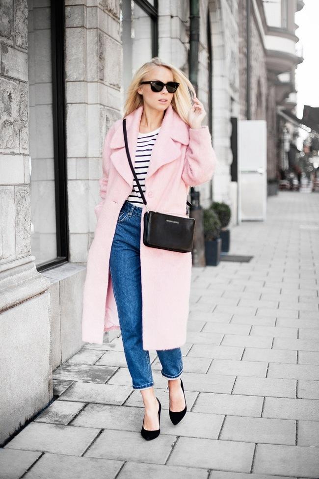 Pink baby pastel coat