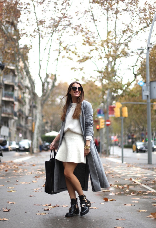 White and grey look