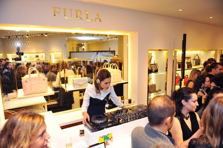 Gala Gonzalez at Furla opening