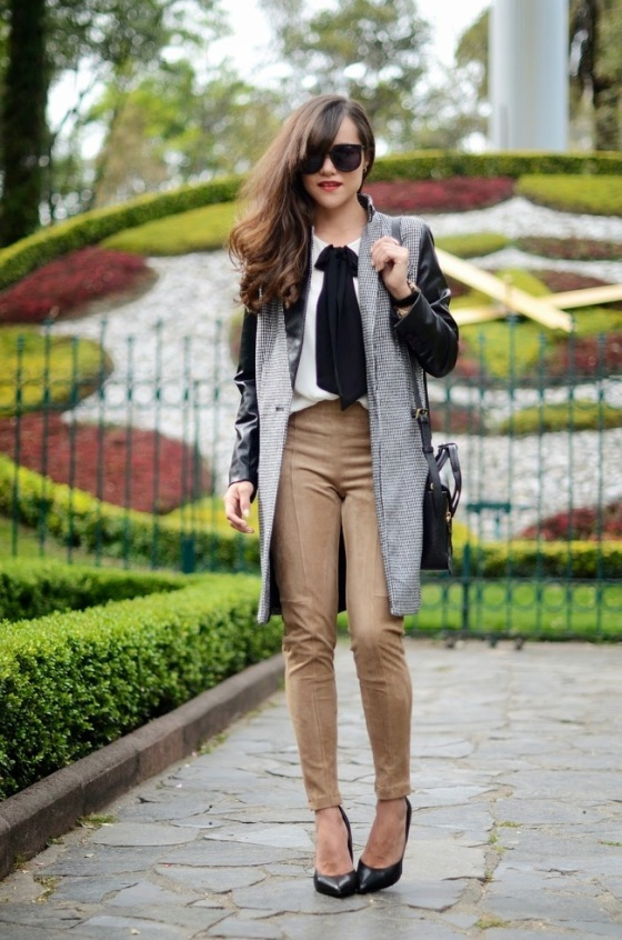 Bow tie blouse look