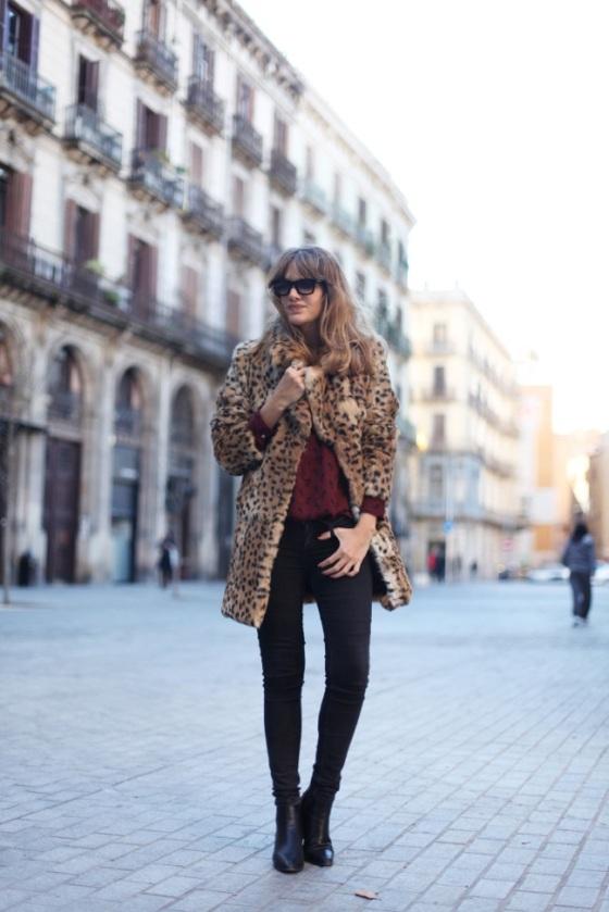 Abrigo estampado leopardo