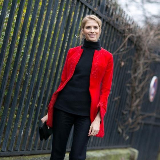 Lena Perminova streer style Paris Haute couture