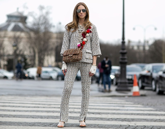 Chiara Ferragni wearing Chanel