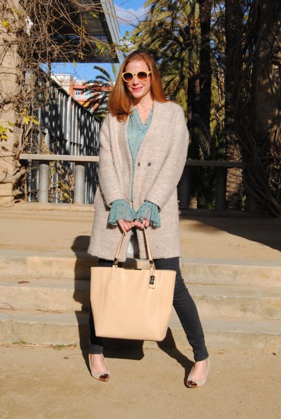 Sheinside Coat and Coach bag