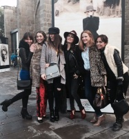 Con mis chicas Cristinismos, Mónica Lendinez, Ana Cranck, Debotrah de Julietta Barcelona e Isa de Lingerie
