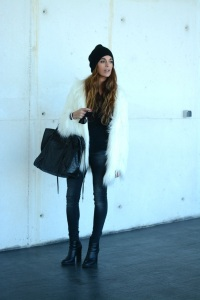 Fluffy white coat