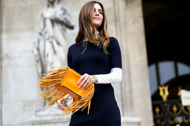Carolina Herrera fringed bag