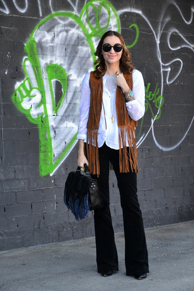 Fringe Vest seventies look