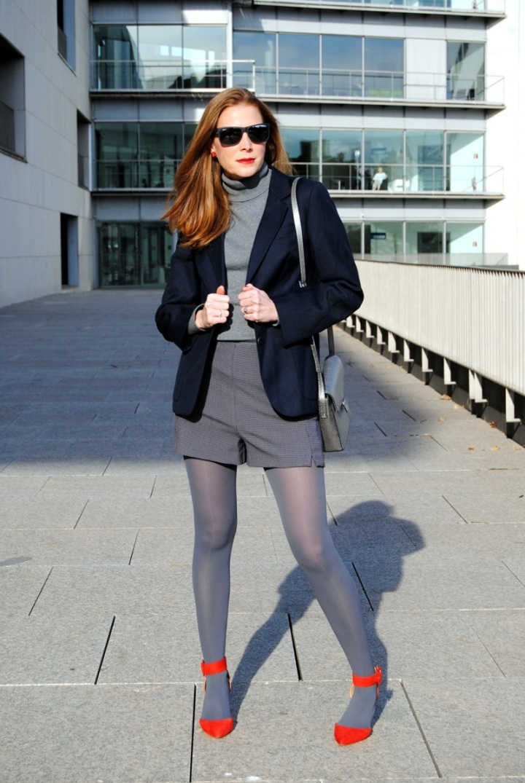 Look invierno con shorts