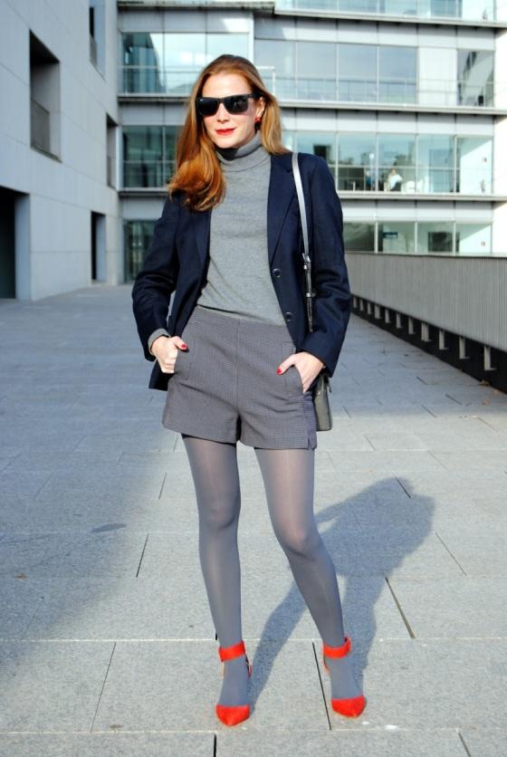 Zara short and grey sweater