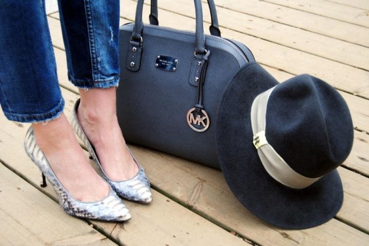 Serena Whitehaven python heels MK bag Raceu Hats