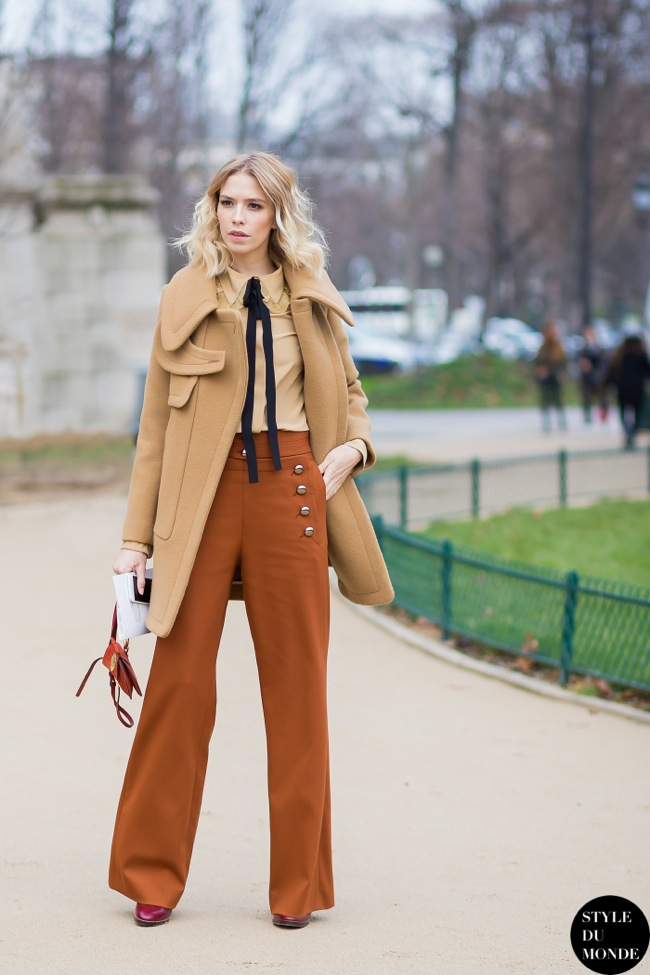 Flared pants look