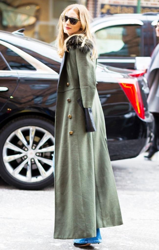 Khaki long coat