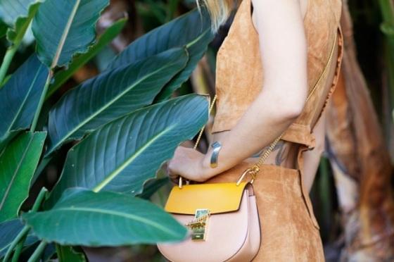 Drew mini bag look
