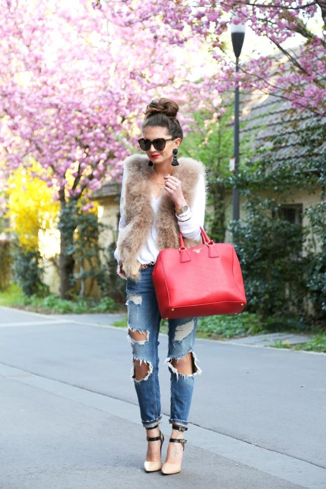 look con jeans rotos