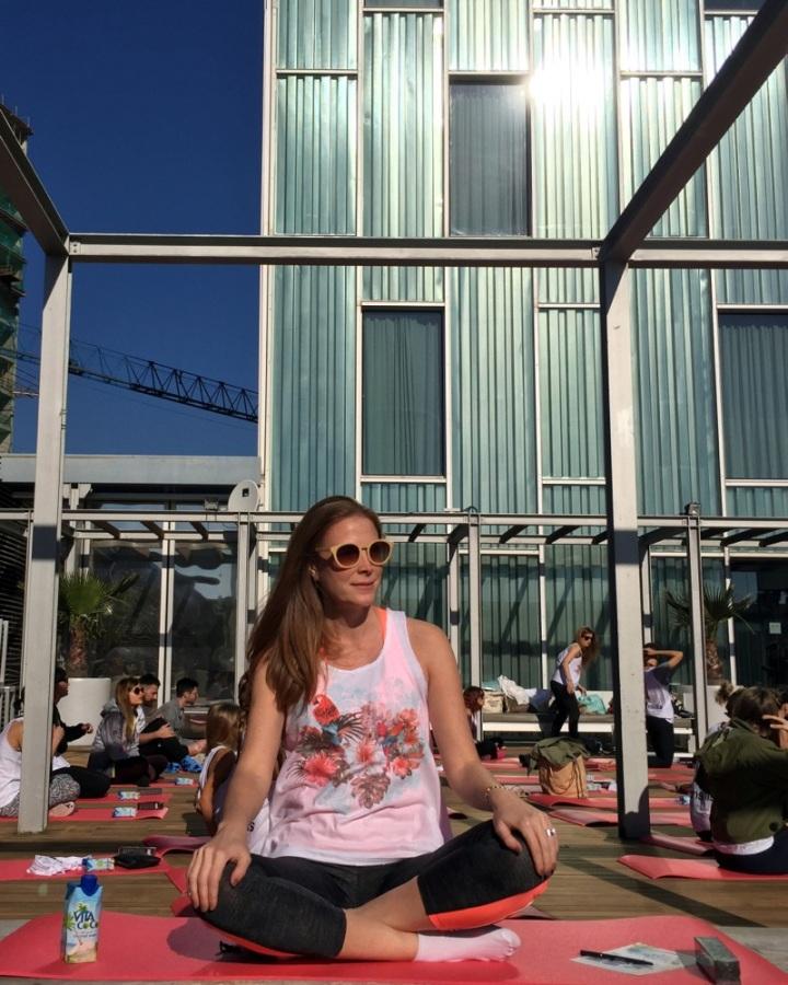 Yoga time at Melia Sky Hotel