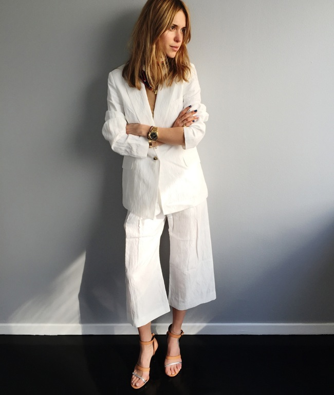 White culottes look