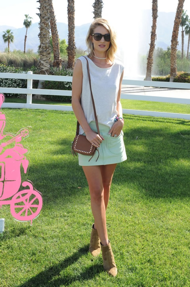 Rosie Huntighton at Coachella 2015