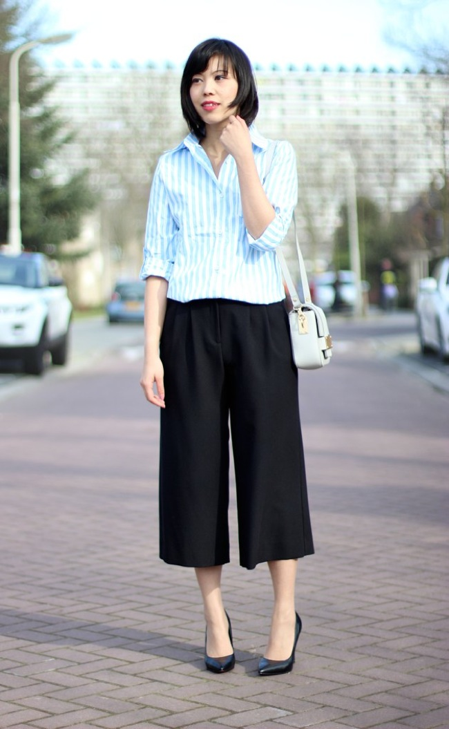 Culottes and blouse look