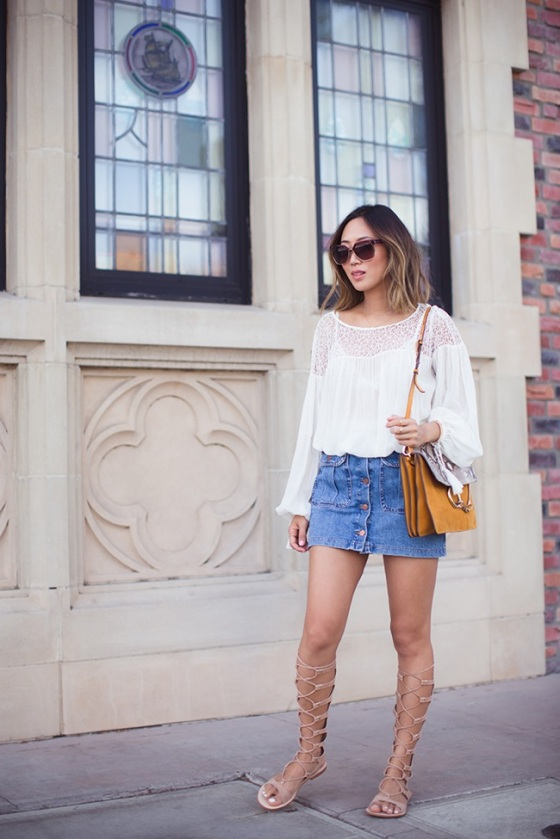 Chloe lace up sandals look