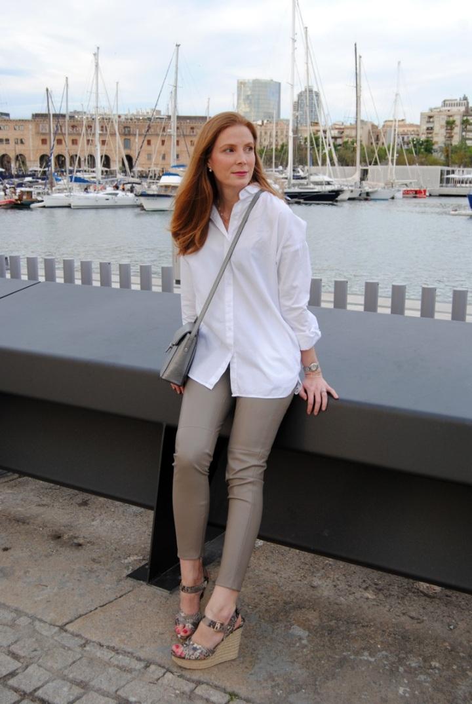 Blusa oversize blanca