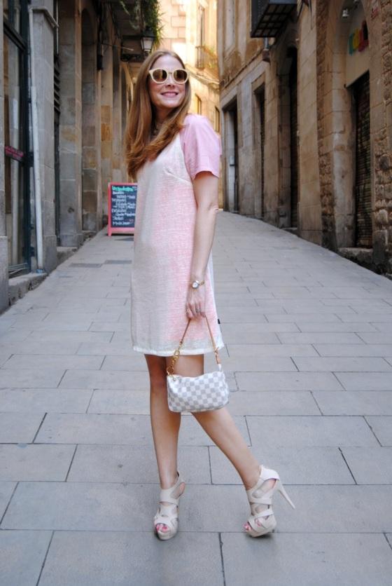 Pinks dress look