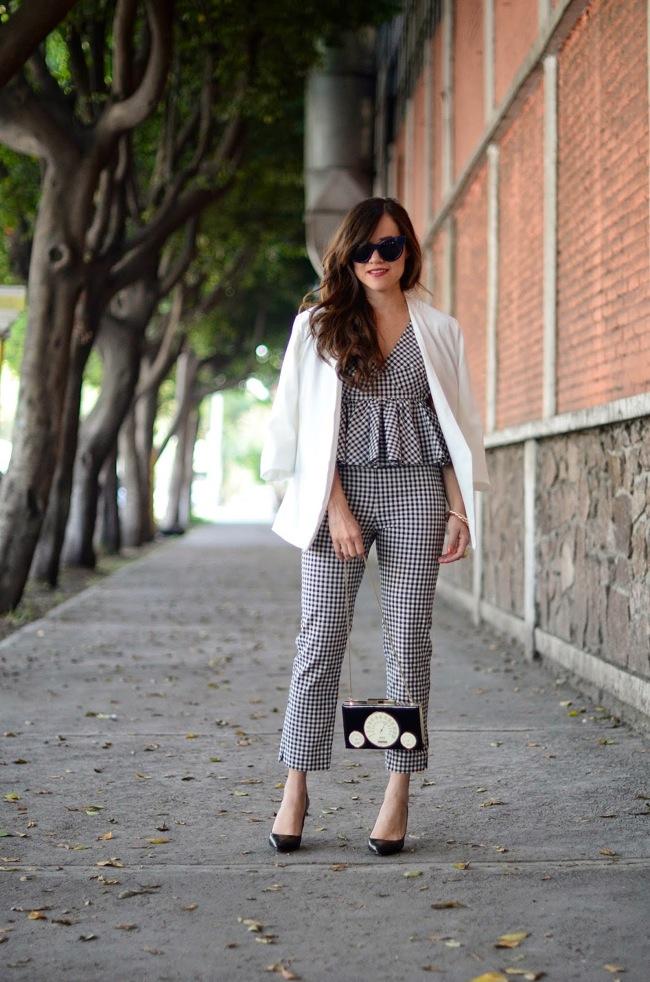 Pantalones y camisa Vichy